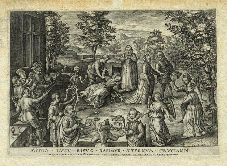 WIERIX  Jean  (1539 - 1620)  La mort subite - gravure  1602