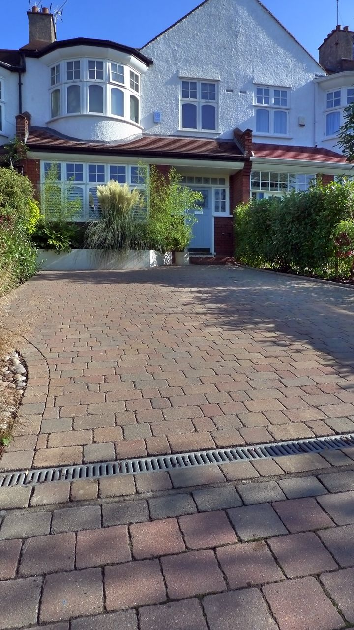 block paving front garden driveway                                                                                                                                                     More