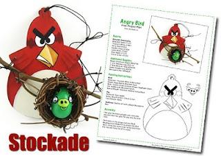 Free Stockade Plan - Angry Bird Ornament