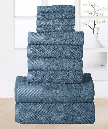 Love this Bluestone Elegance Egyptian Cotton Towel Set on #zulily! #zulilyfinds