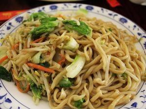 Recette Nouilles chinoises sautées aux légumes et aux noix de saint jacques