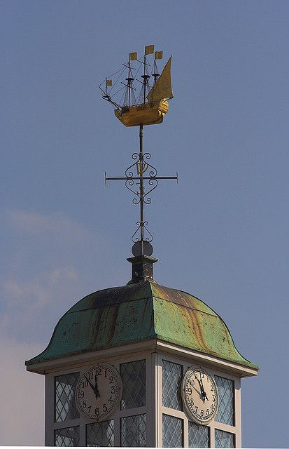 Weather Vane Clock Tower, Newlyn, England | by Jon Law, via Flickr