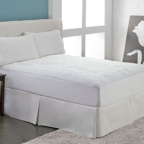 White Silky Cotton Queen Mattress Pad - (In No Image Available)