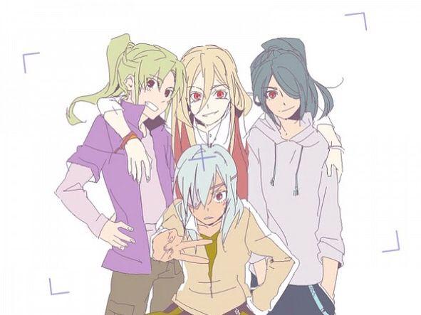 Byron, Nathan, David y Jordan... Mis cuatro personajes favoritos de la serie juntos!!!!