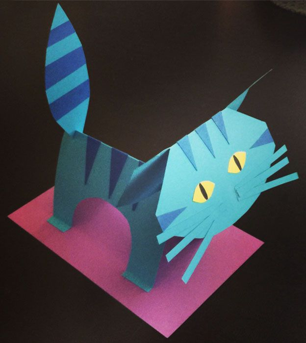 Pete the Cat- modify the Paper Tiger template here