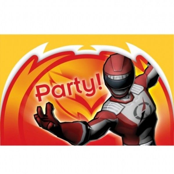 Power Rangers Super Legends Invitations - Pack of 6 | - Kids Party Shop