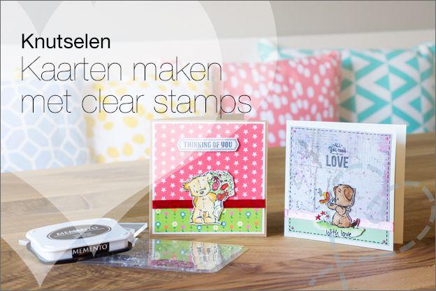 Zelf kaartjes maken: Kaarten maken met Clear Stamps. Ik geef uitleg en maakte diverse voorbeelden :-).