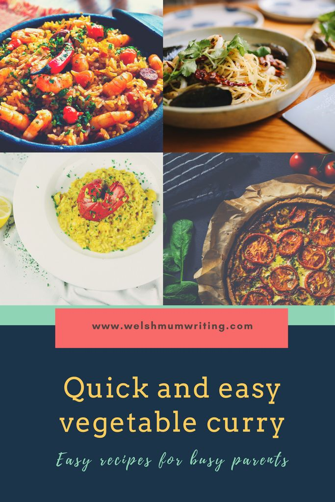 Quick and easy cauliflower and vegetable curry. A healthy alternative to take out which uses leftover veg.
