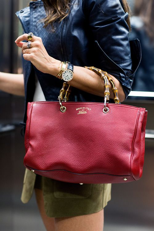 Christina Pitanguy with the FW 13-14 Gucci Bamboo Shopper, Brazil 2013