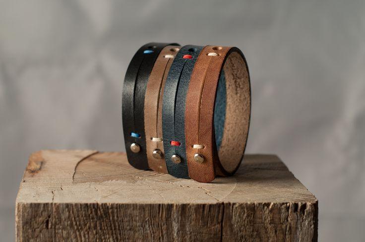 Some men's bracelets for every taste. Genuine leather