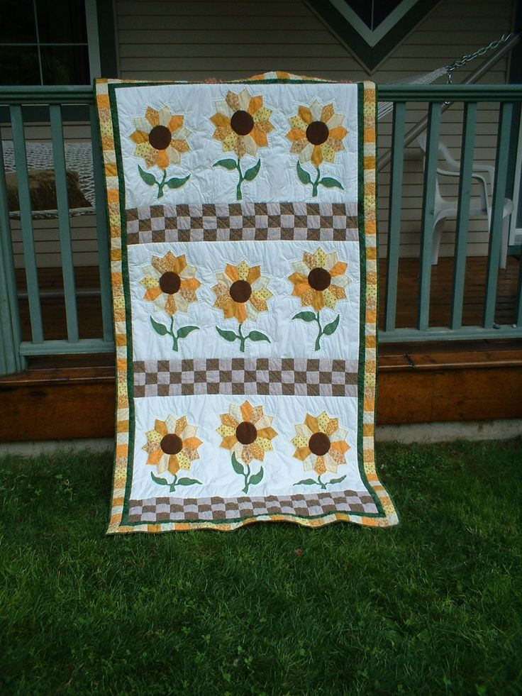 Sunflower quilt for a wedding gift