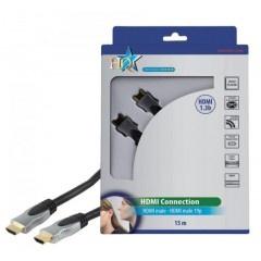 HQ 1.3 HDMI kabel van 15 meter voor het makkelijk aansluiten van al je hdmi bronnen op je HD tv of beamer.