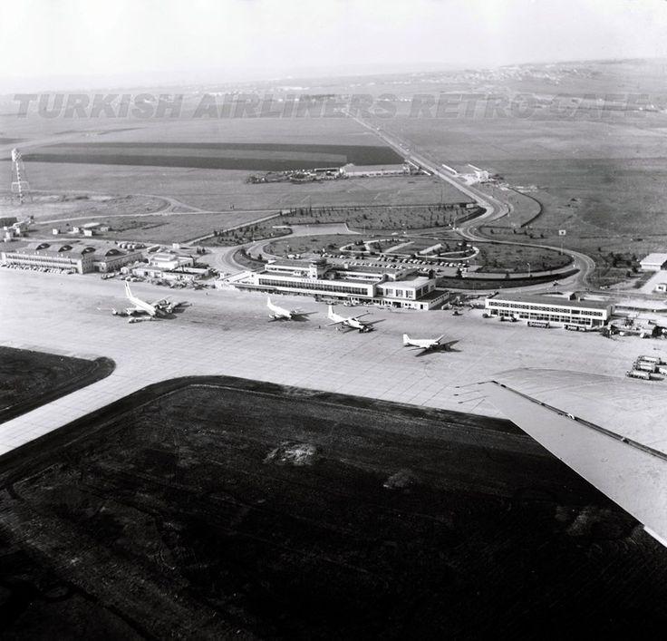 Yıl 1965; Yeşilköy Havaalanı... Sol başta SAUDIA Boeing 707'si ile THY'nin gözde uçakları V794D, F.27 ve C-47 Dakota uçakları bir aradalar