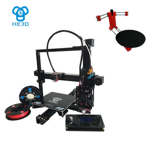 set sale,auto level HE3D EI3 single metal extruder 3D printer DIY kit,adding Red open source 3d scanner DIY Kit