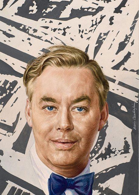 Daniel Patrick Moynihan by Boris Chaliapin