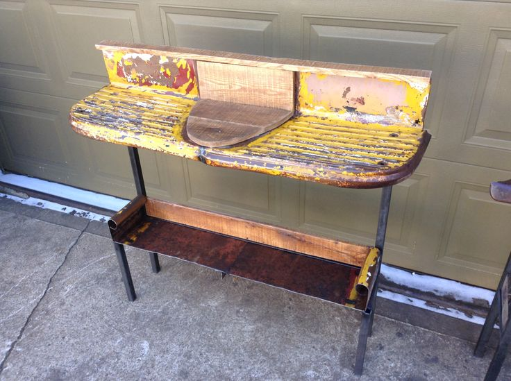 Sofa Table Made From 1957 Chevy Truck Running Boards