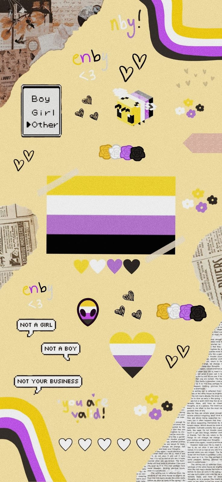 Rainbow Wallpaper, Iphone Wallpaper, Phone Backgrounds, Nonbinary Flag, Phineas E Ferb, Lgbtq Flags, Pansexual Pride, Gay Aesthetic, Lgbt Love
