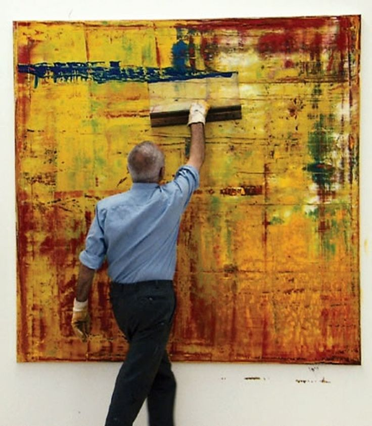 A genius at work- Gerhard Richter- interesting surfaces
