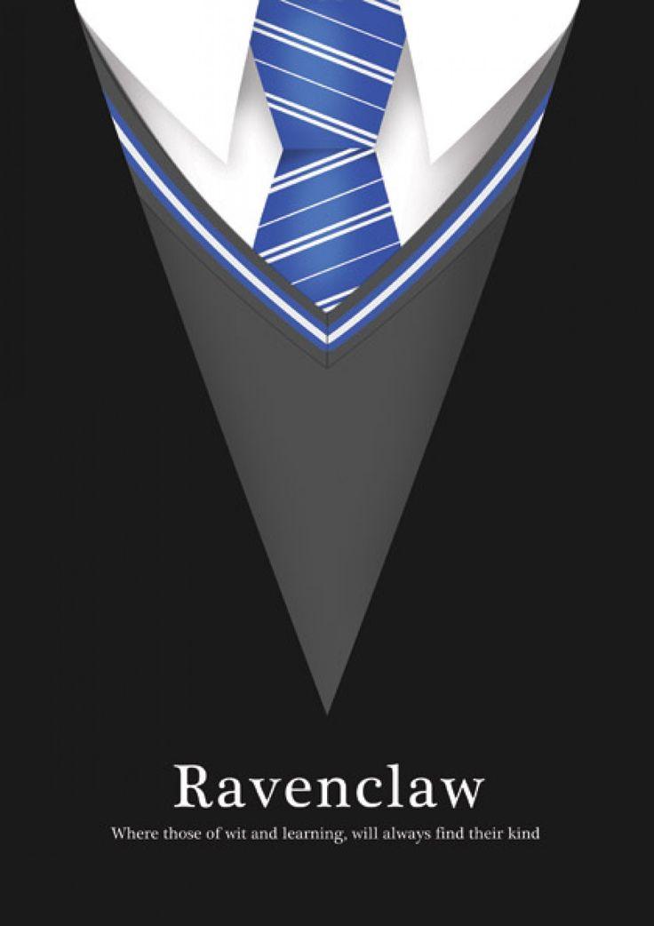 Nós, da Corvinal, somos sagazes e gostamos de aprender uns com os outros. #Ravenclaw #Azul #Sabedoria