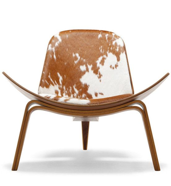 One day, Wegner Shell Chair in cowskin, you WILL be mine...