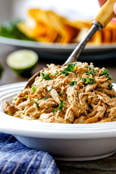 Fiesta Ranch Cream Cheese Chicken: The secret ingredient to making this chicken dish extra creamy? Just mix dry ranch seasoning with cream cheese!