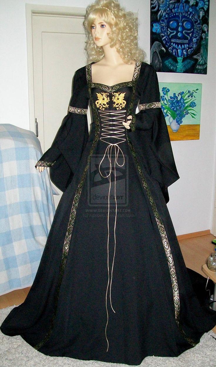 Dragon dress by Azinovic.deviantart.com on @deviantART