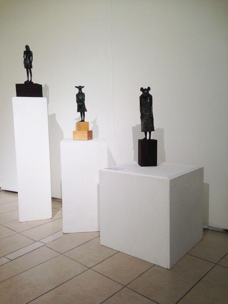 Unisa Art Gallery - CANSA Art Exhibition - Artworks by Elizabeth Balcomb - Photograph by Megan Erasmus