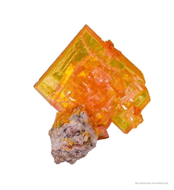Wulfenite with Mimetite - Rowley Mine, Maricopa County, Arizona