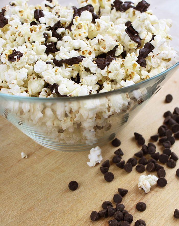 Rethink Snacking with Salted Dark Chocolate Popcorn!