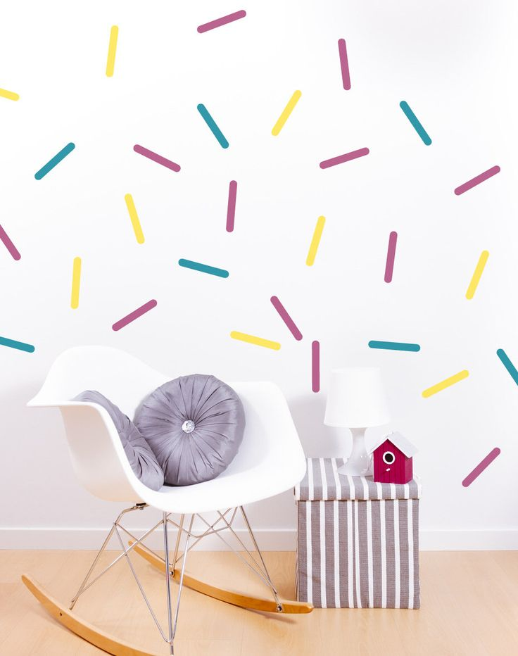 Colorful Sprinkles wall decals, Rainbow sprinkles, confetti wall decal #041 by StudioPicco on Etsy https://www.etsy.com/listing/255973042/colorful-sprinkles-wall-decals-rainbow