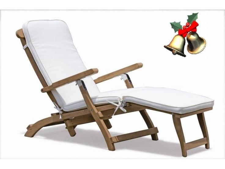 Raffles Premium Teak Steamer Chair With Cushion