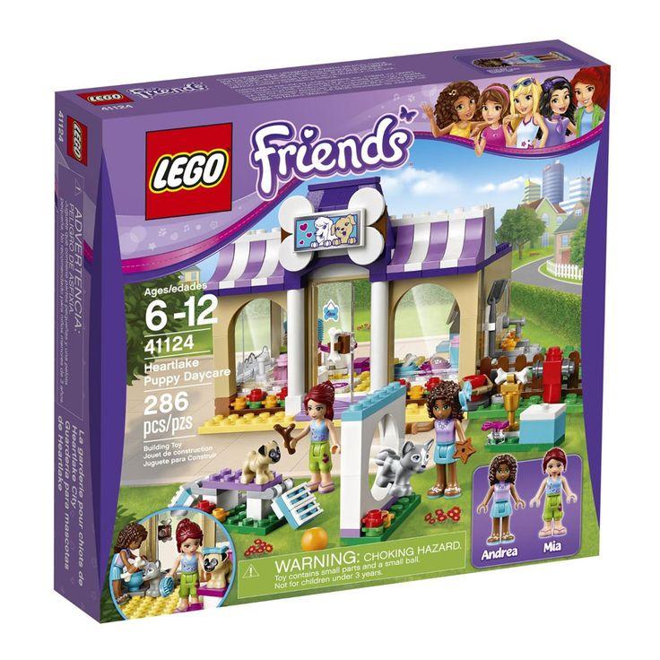 Conheça o sensacional Lego Friends - A Creche de cães de Heartlake - 41124,  um conjunto muito divertido que vai conquistar as mocinhas! Com ele as pequeninas poderão se divertir com Andrea e Mia, construindo uma linda creche, repleta de acessórios, para cuidar dos cachorrinhos. Lego Friends traz tudo que Lego tem melhor, especialmente projetado para as meninas poderem soltar a imaginação e criarem as mais animadas historinhas. Lego Friends é um brinquedo impecável que vai proporcionar…