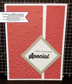 Creating with Kara Davies: Simple cardmaking from a sketch