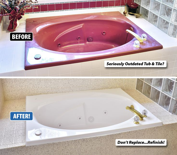 Is your tub and tile seriously outdated but you love the for Bathtub shapes and sizes