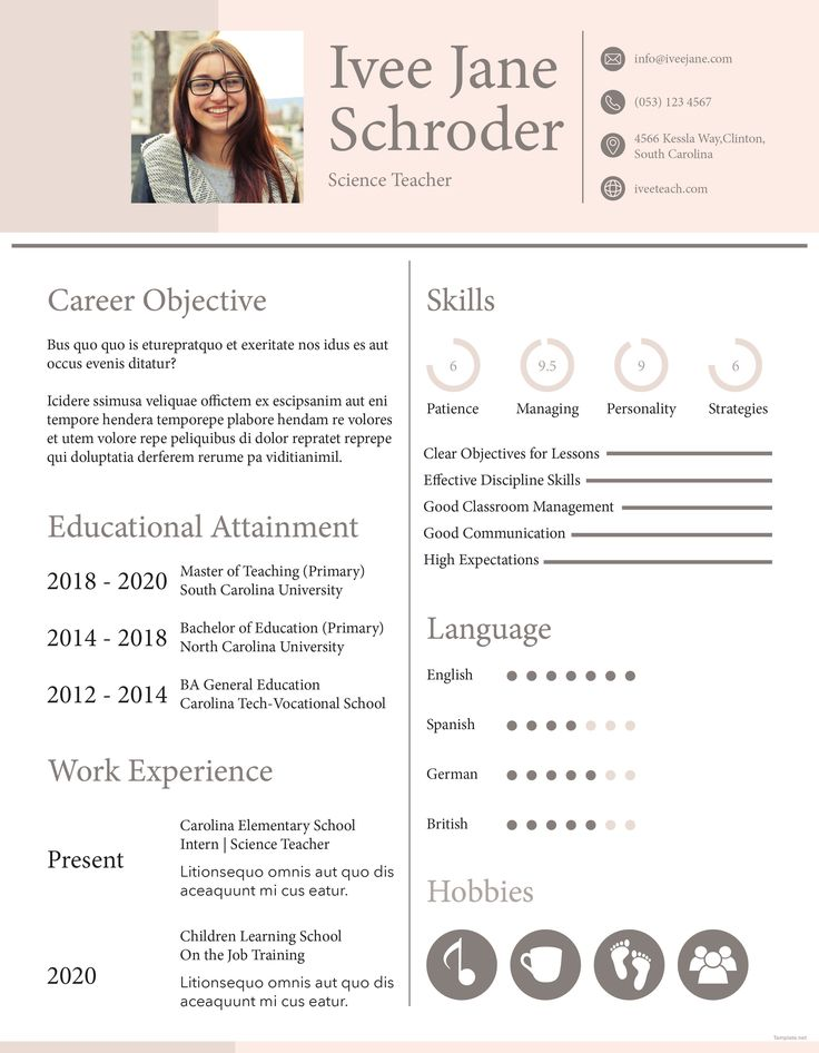 Free Fresher School Teacher Resume Format Teacher resume