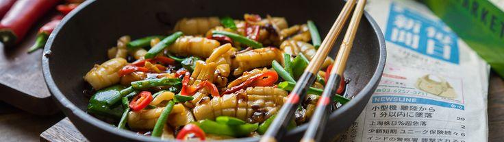 Кальмары с восточным акцентом - Andy Chef - блог о еде и путешествиях, пошаговые рецепты, интернет-магазин для кондитеров