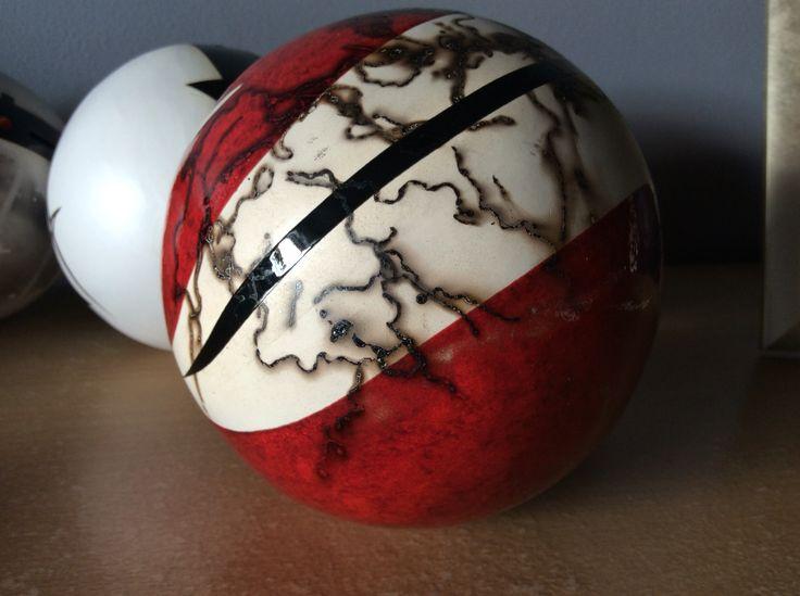 Glazed horsehair orb