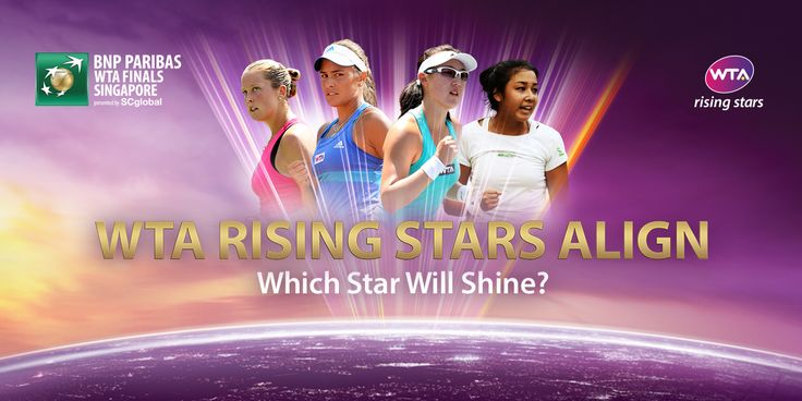10/8/14 WTA RISING STARS INVITATIONAL FIELD SET! Zarina Diyas and Zheng Saisai will represent the Asia-Pacific group, while Monica Puig and Shelby Rogers will represent the Rest of World group.  A total of 692,182 votes were registered from 346,091 fans representing 140 different countries. Via WTA.