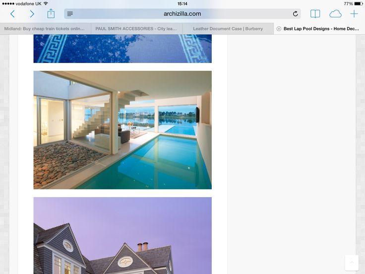 Indoor outdoor lap pool