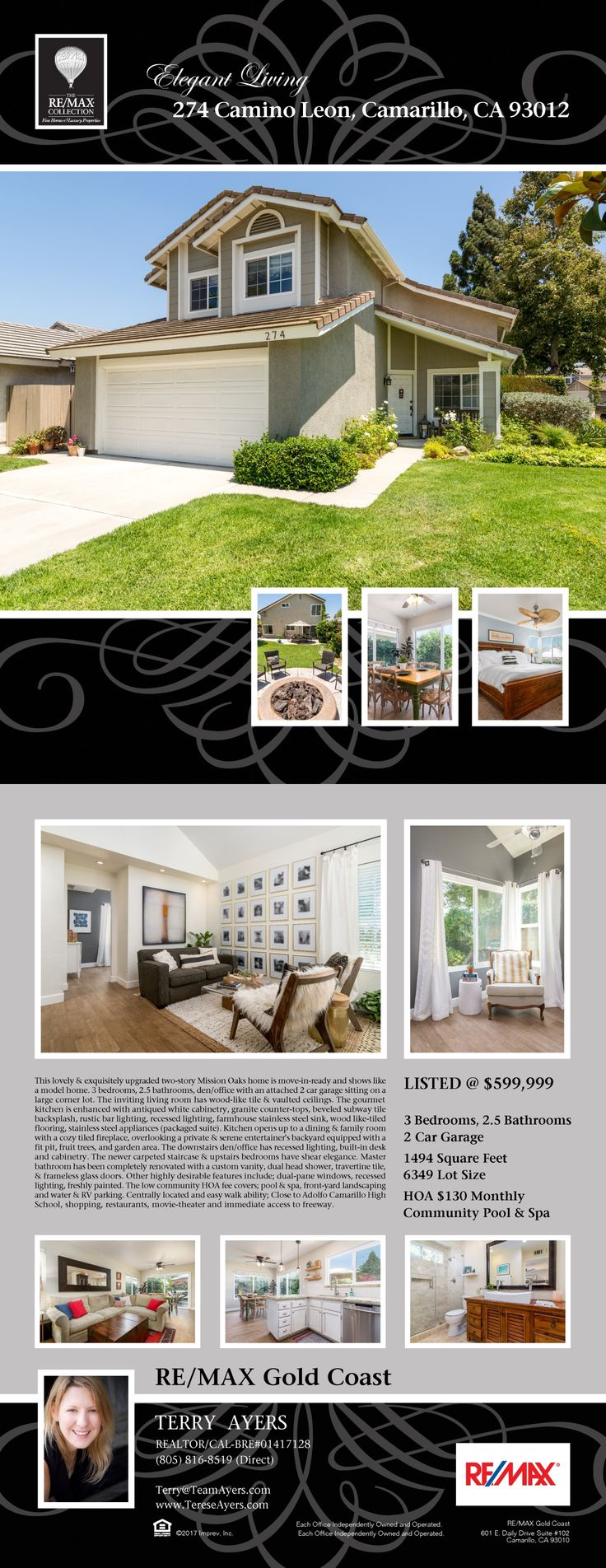 274 Camino Leon, Camarillo, CA 93012 - Call Terry Ayers, Realtor with Re/Max Gold Coast Realtors 805-816-8519 to schedule a showing today!
