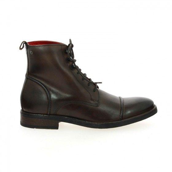Bottillons à lacets homme marron BASE LONDON CLAPHAM - Bessec-chaussures.com