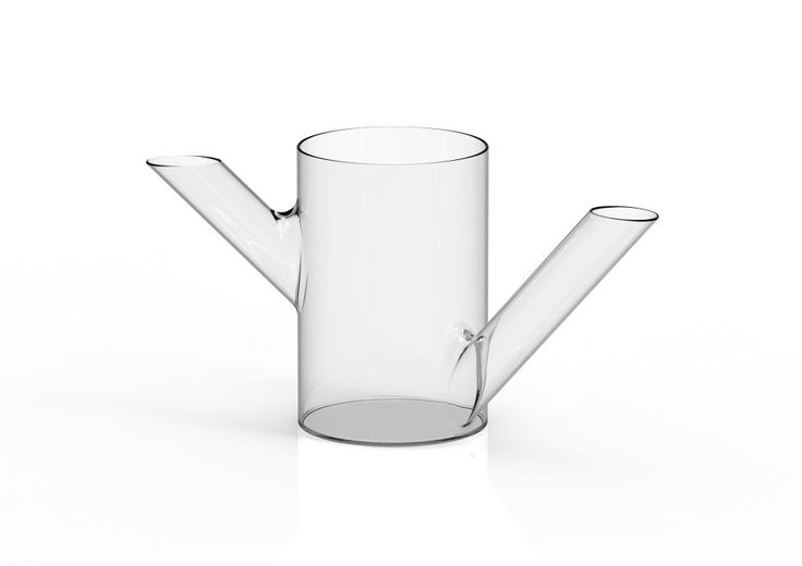Bramo and Tramo, glass vases watering cans by Aliantedizioni made in Italy on CROWDYHOUSE