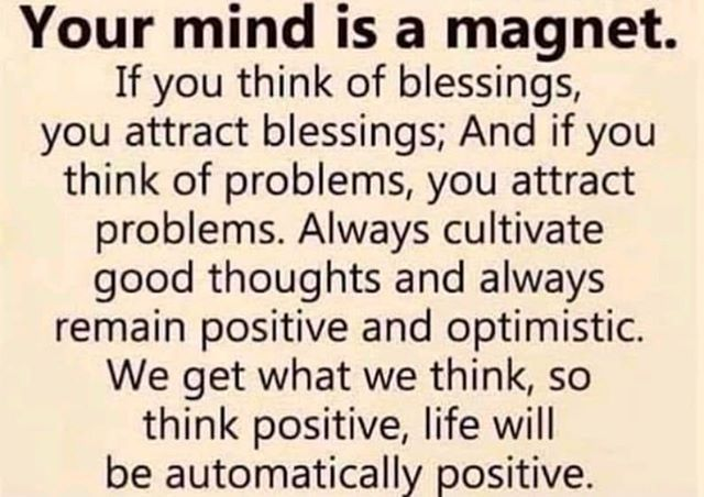 Your mind is a magnet. #mindset