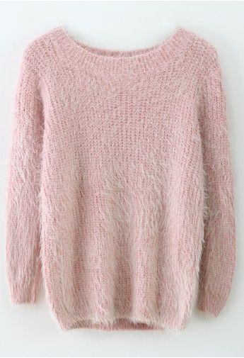 Basic Fluffy Sweater in Pink - I think I need this