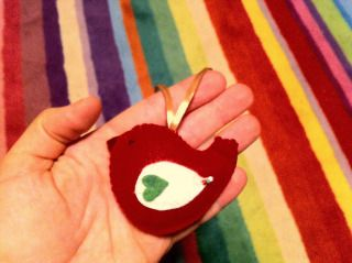 Felt Christmas handmade ornament
