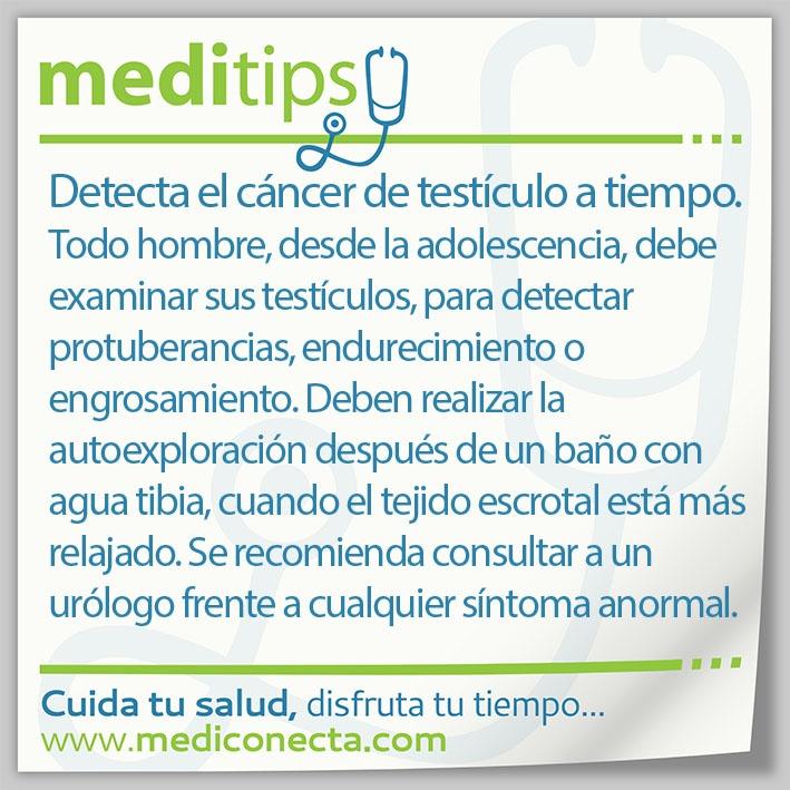 Detecta el cáncer de testículo a tiempo.