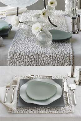 Nice Stone Runner And Place Mats. I Have These In A Darker Shade, I Need