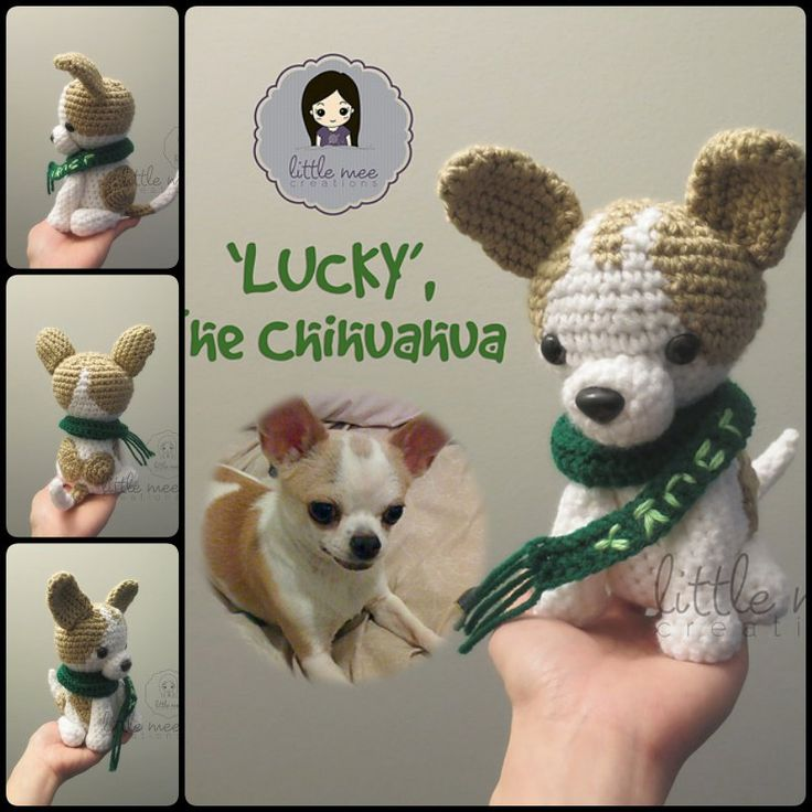 Crochet Adorable Amigurumi Stuffed Yorkie Dog with Free Pattern