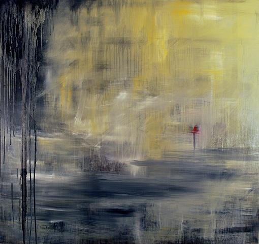 "Astrid Cravens  Lighthouse, 2010,  Oil on panel, 48"" x 46"""