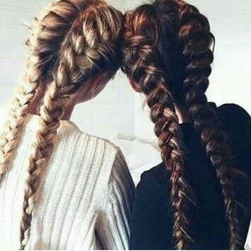 Картинка с тегом «hair, friends, and braid»